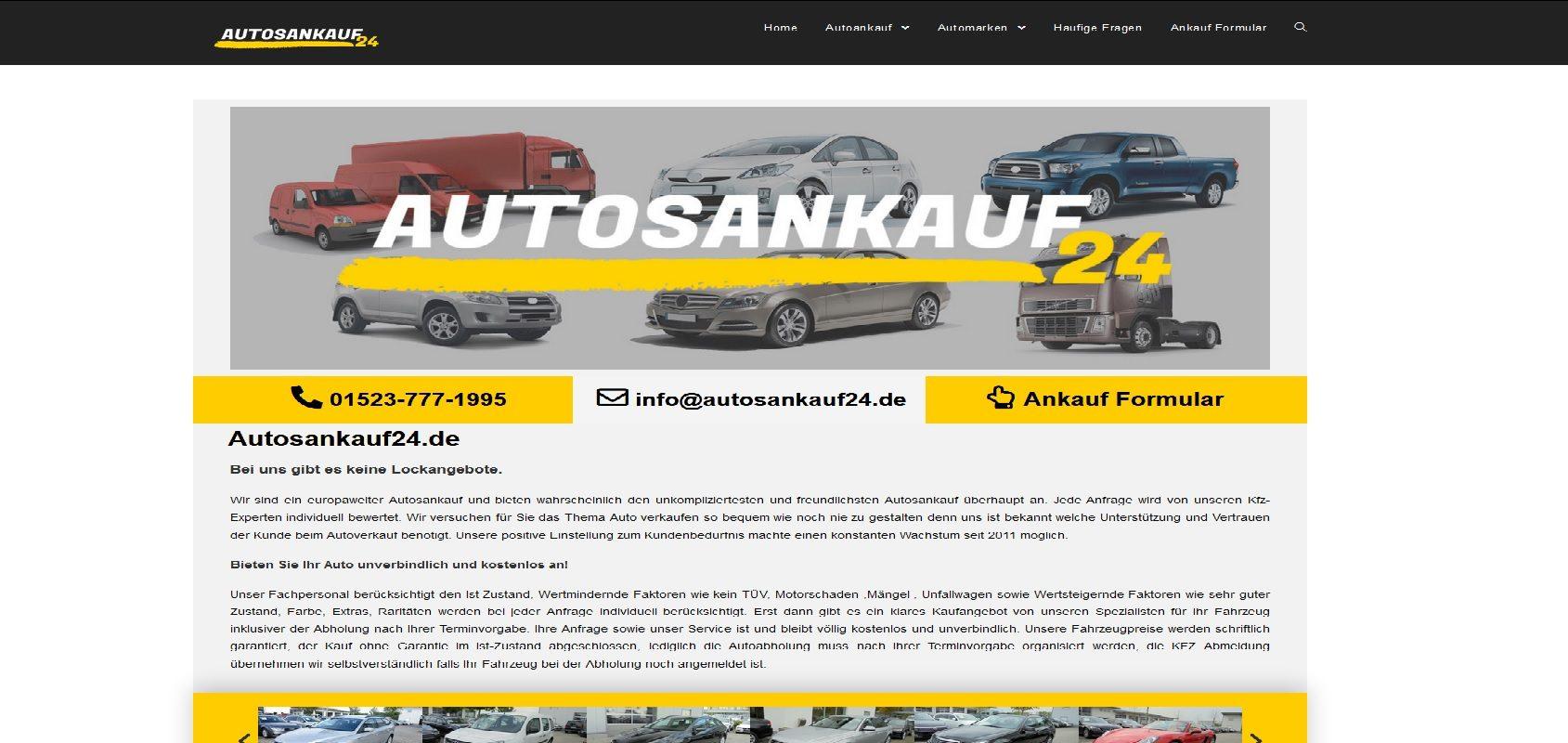 autosankauf24.de Autoankauf Unfallfahrzeug Ankauf